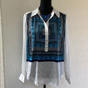 INC Blouse with Necklace